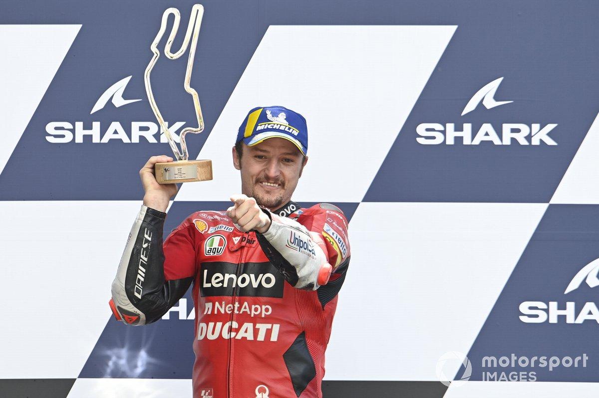 Il vincitore della gara Jack Miller, Ducati Team
