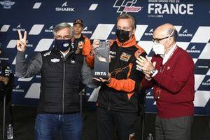 Claude Michy, Hervé Poncharal, KTM Tech3, Carmelo Ezpeleta, CEO de Dorna Sports