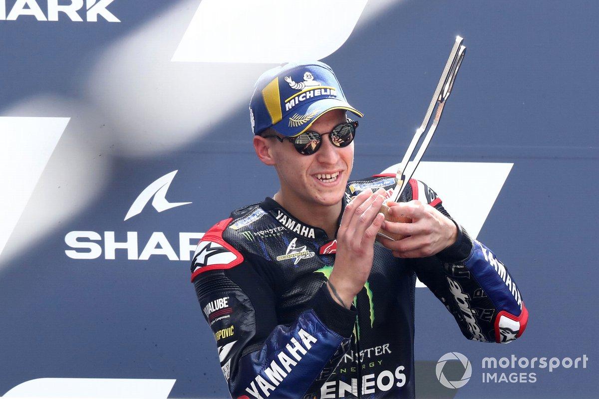 Podio: tercer lugar Fabio Quartararo, Yamaha Factory Racing