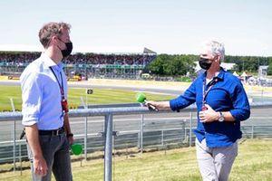 Jenson Button and Damon Hill