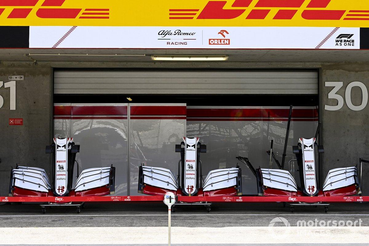 Alerones delanteros del Alfa Romeo Racing C41