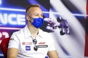 Никита Мазепин, Haas F1, на пресс-конференции