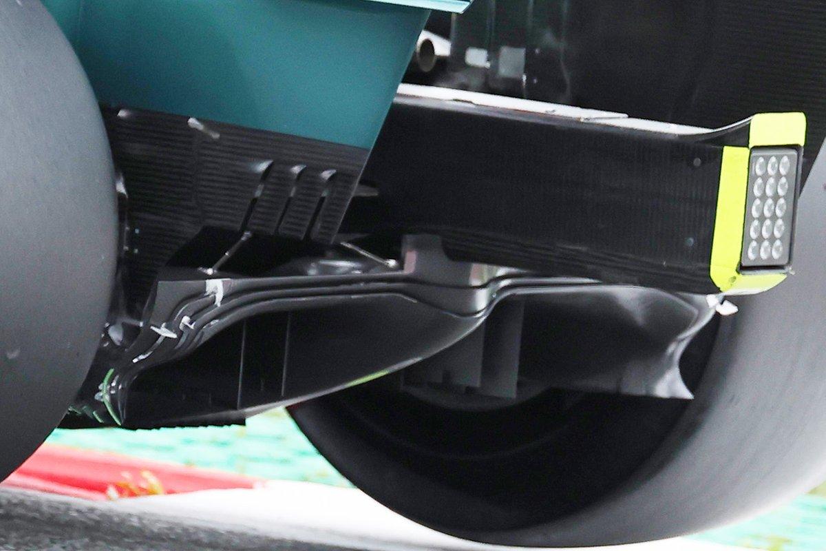 Detalle del difusor del Aston Martin AMR21
