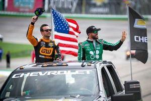 Kurt Busch, Chip Ganassi Racing, Chevrolet Camaro GEARWRENCH, Ross Chastain, Chip Ganassi Racing, Chevrolet Camaro Clover