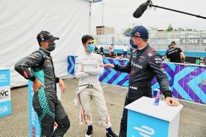 Mitch Evans, Jaguar Racing, Sergio Sette Camara, Dragon Penske Autosport, Nick Cassidy, Envision Virgin Racing, after Qualifying