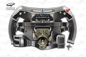 Mercedes AMG F1 W12, steering wheel back of Lewis Hamilton