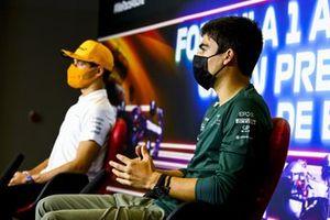 Лэнс Стролл, Aston Martin F1, Ландо Норрис, McLaren, на пресс-конференции