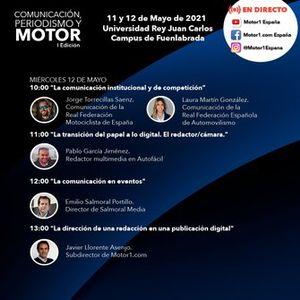 Comunicación, periodismo y motor: horarios y eventos de la jornada del miércoles 12 de mayo