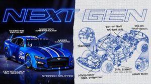 Ford Mustang in der Gen7-Version für die NASCAR Cup-Saison 2022