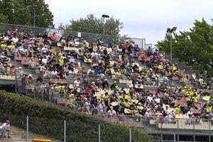 La foule dans les tribunes