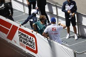 Sebastian Vettel, Aston Martin and Mick Schumacher, Haas