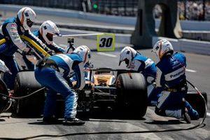 Arrêt au stand de Takuma Sato, Rahal Letterman Lanigan Racing Honda