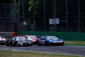 Start, Kelvin van der Linde, Abt Sportsline Audi R8 LMS GT3, Liam Lawson, AF Corse Ferrari 488 GT3 Evo