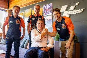 Remy Gardner, Red Bull KTM Ajo, Pit Beirer, KTM Motorsport Director, Hervé Poncharal, Tech3 KTM Factory Racing Team Principal, Mike Leitner, Red Bull KTM Factory Racing,