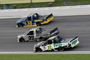 Hailie Deegan, Team DGR, Ford F-150 Toter/Engine Ice y Ben Rhodes, ThorSport Racing, Toyota Tundra Bombardier