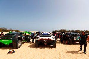 Les voitures d'Extreme E dans le paddock, Veloce Racing, Segi TV Chip Ganassi Racing, Rosberg X Racing