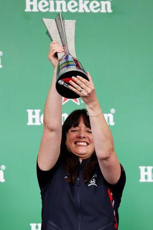 Podium: Hannah Schmitz, Red Bull Racing strategy engineer