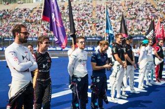 Jean-Eric Vergne, DS Techeetah, Antonio Felix da Costa, DS Techeetah, Robin Frijns, Virgin Racing, Sam Bird, Virgin Racing