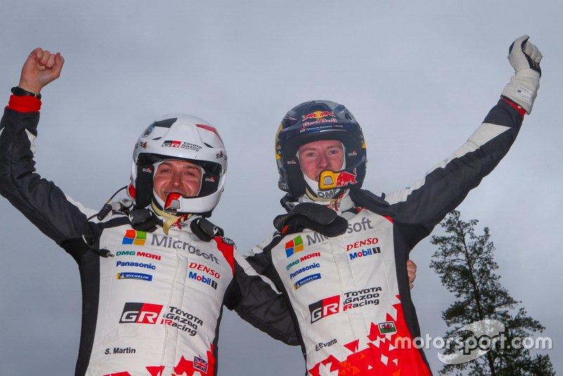 Il vincitore Elfyn Evans, Scott Martin, Toyota Gazoo Racing WRT Toyota Yaris WRC