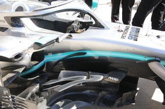 Mercedes AMG F1 W10, barge board