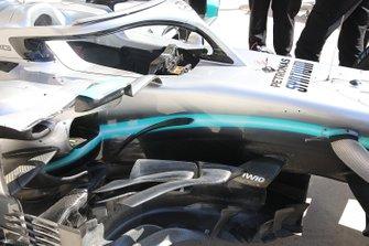 Боковой дефлектор Mercedes AMG F1 W10