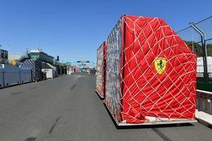 Ferrari Freight arrives