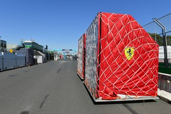 Ferrari Freight arrives