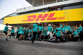 Lewis Hamilton, Mercedes AMG F1 and Race winner Valtteri Bottas, Mercedes AMG F1