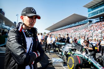 Esteban Ocon, Mercedes AMG F1 on the grid