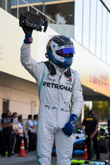 Valtteri Bottas, Mercedes AMG F1, 1st position, celebrates in Parc Ferme