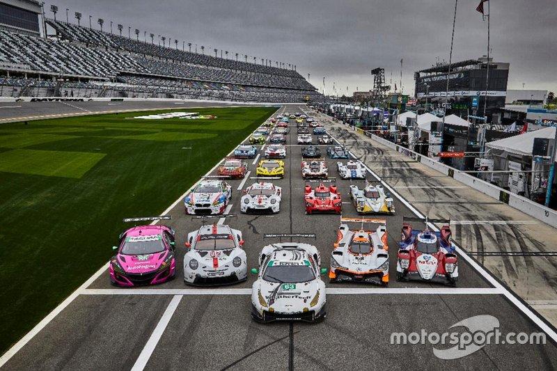 Alineación de coches de Rolex Daytona 24