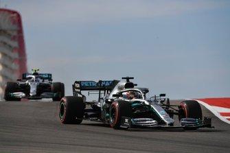 Lewis Hamilton, Mercedes AMG F1 W10, and Valtteri Bottas, Mercedes AMG W10