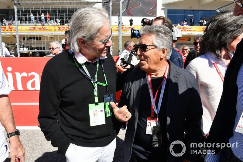 Michael Douglas with Mario Andretti