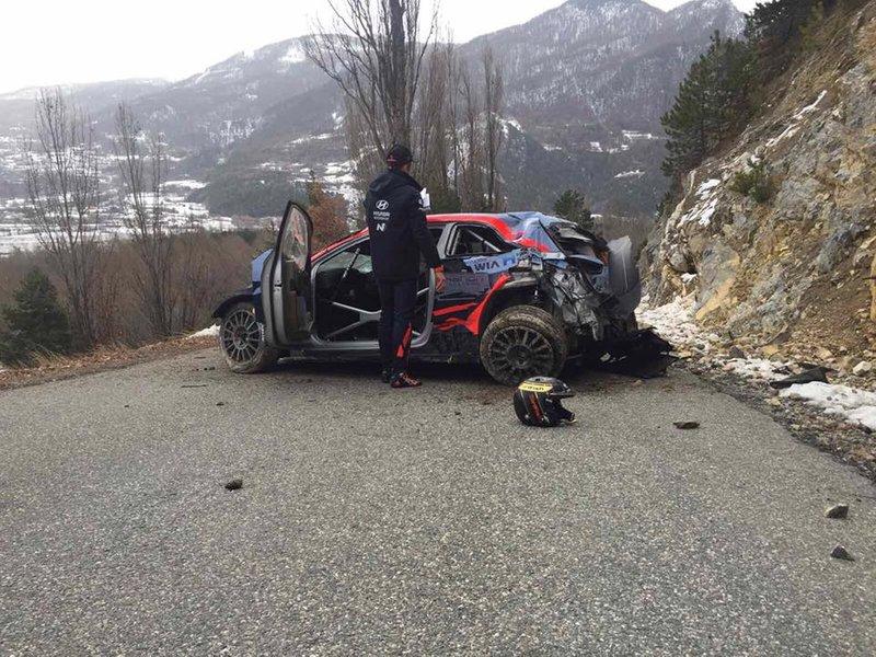 Ott Tanak, Martin Jarveoja, Hyundai i20 WRC, Rallye Monte Carlo