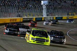 Matt Crafton, ThorSport Racing, Ford F-150 Damp Rid / Menards and Raphael Lessard, Kyle Busch Motorsports, Toyota Tundra Mobil 1