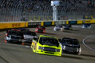 Matt Crafton, ThorSport Racing, Ford F-150 Damp Rid / Menards and Raphael Lessard, Kyle Busch Motorsports, Toyota Tundra Mobil 1