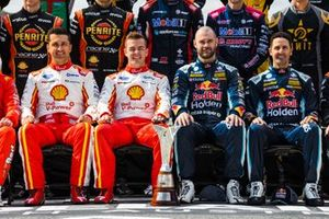 Fabian Coulthard, DJR Team Penske Ford, Scott McLaughlin, DJR Team Penske Ford, Shane van Gisbergen, Triple Eight Race Engineering Holden, Jamie Whincup, Triple Eight Race Engineering Holden