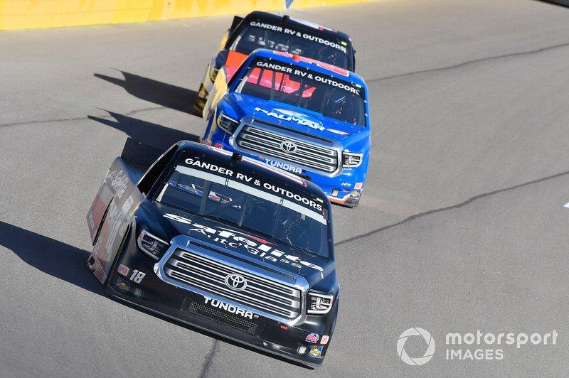 Christian Eckes, Kyle Busch Motorsports, Toyota Tundra Safelite AutoGlass, Stewart Friesen, Halmar Friesen Racing, Toyota Tundra Halmar International