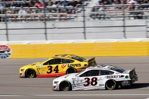 Michael McDowell, Front Row Motorsports, Ford Mustang Love's Travel Stops, John Hunter Nemechek, Front Row Motorsports, Ford Mustang Berry's Bullets