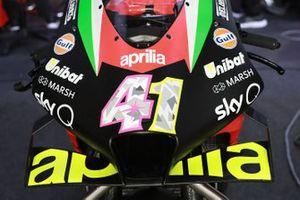 Aleix Espargaro, Aprilia Racing Team Gresini, dettaglio della moto
