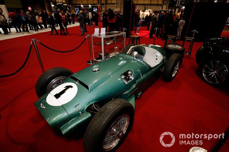 An Aston Martin on display at the Autosport show
