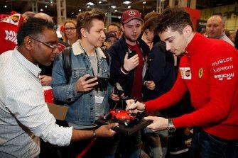 Charles Leclerc, Ferrari signs autographs for fans