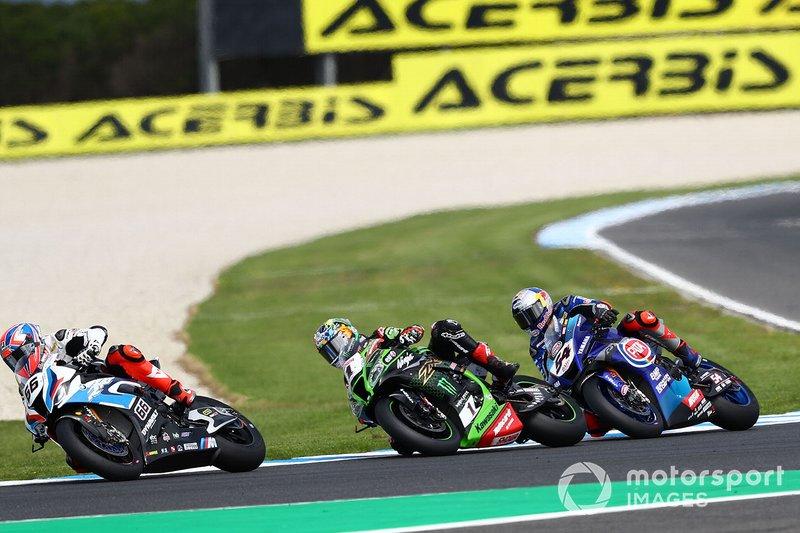 Tom Sykes, BMW Motorrad WorldSBK Team, Jonathan Rea, Kawasaki Racing Team, Toprak Razgatlioglu, Pata Yamaha