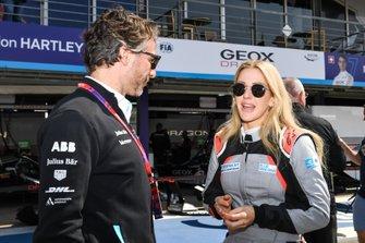 Singer Ellie Goulding con Jamie Reigle, CEO di Formula E