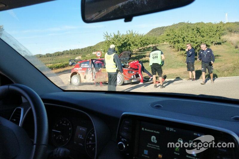 Problemi per Sebastien Ogier, Julien Ingrassia, Citroen C3 WRC