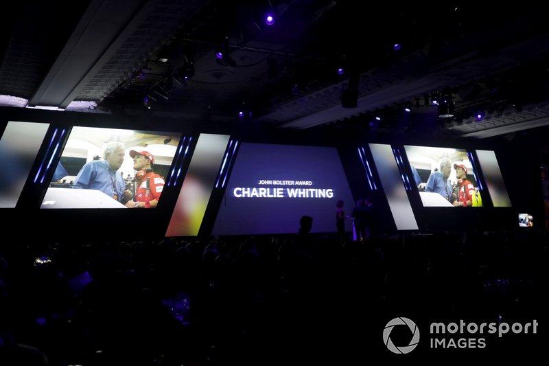 Presentazione del John Bolster award per il defunto Charlie Whiting