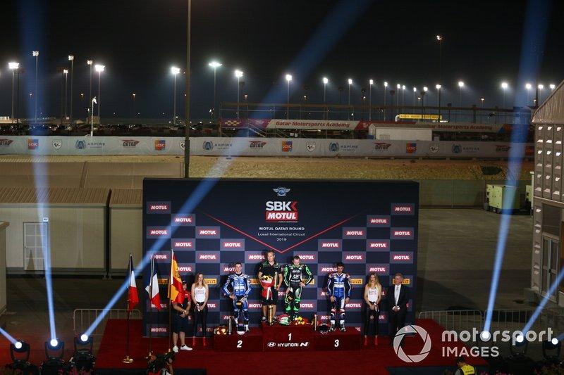 Jules Cluzel, GMT94 Yamaha, Lucas Mahias, Kawasaki Puccetti Racing, Isaac Vinales, Kallio Racing