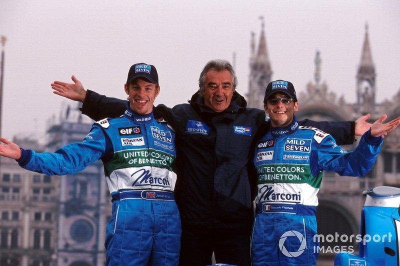 Team Manager Flavio Briatore, Renault, Jenson Button, Renault, Giancarlo Fisichella, Renault