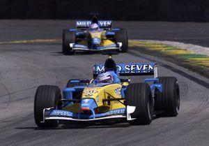 Jarno Trulli, Renault, Jenson Button, Renault