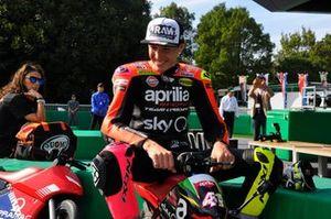 Aleix Espargaró en el evento de las minibikes de MotoGP
